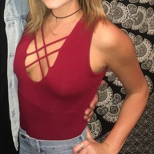 Tops - Red Body Suit
